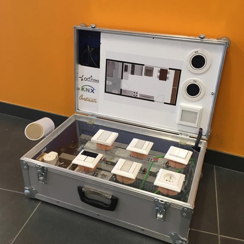 The amazing KNX advanced project in educational flightcases @OdiseeGent